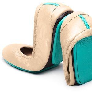 Tieks Patent Leather Biscotti Nude Ballet Flats